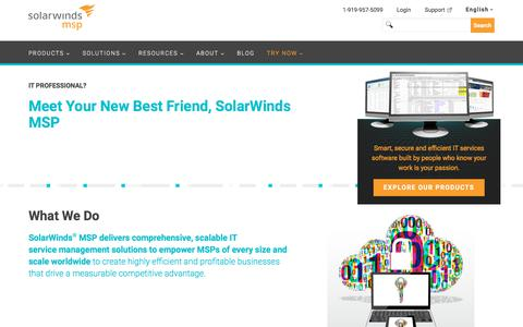About Us | SolarWinds MSP
