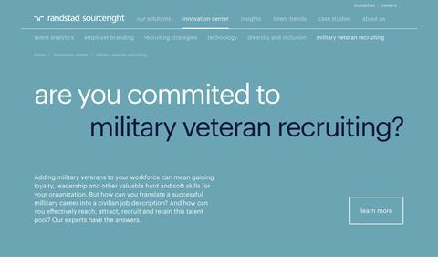 Military & Veteran Recruitment Solutions | Randstad Sourceright