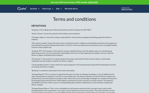 Screenshot of Terms Page snaptrip.com - Terms and conditions - captured July 7, 2017