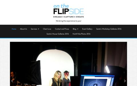 Screenshot of Home Page flipsidexperience.com - Interactive photography experiences for marketing and events. - Flipside Experience - captured Nov. 13, 2017