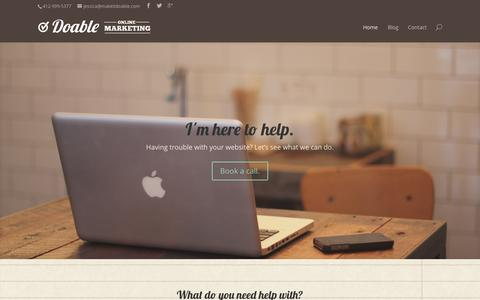 Screenshot of Home Page makeitdoable.com - Home - Doable Online Marketing LLC - captured Oct. 5, 2014