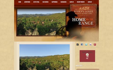 Screenshot of Blog bishopslodge.com - Bishops Lodge | Home on the RangeBishops Lodge | Home on the Range - captured Oct. 5, 2014