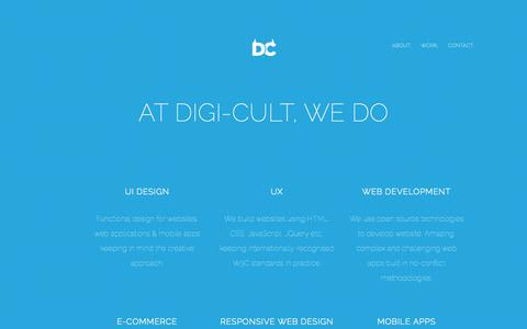 Screenshot of About Page digi-cult.in - About Digi-cult - Digital UI UX Design Agency (India) | UI Design | User Experience | Goosebumps Pickles | UX | Mobile App | iOS Apps | Android Apps | eCommerce Website - captured Sept. 30, 2014