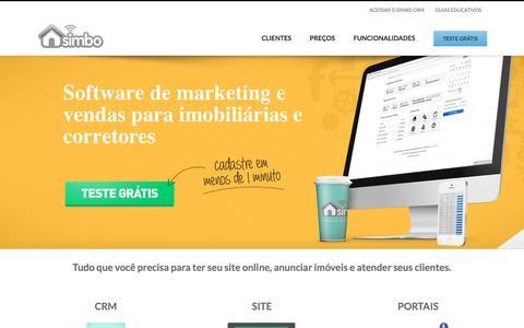 Screenshot of Home Page simbo.com.br - Sistema de gestão para Imobiliárias com Site - Simbo CRM - captured Dec. 5, 2016
