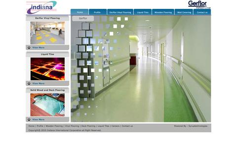 Screenshot of Home Page indiana.co.in - ::: Indiana ::: - captured Oct. 3, 2014