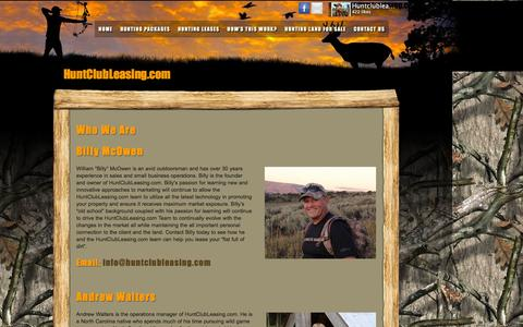 Screenshot of About Page huntclubleasing.com - Who We Are- HuntClubLeasing.com - captured Feb. 4, 2016