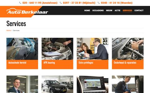 Screenshot of Services Page autoberkelaar.nl - Services - Auto Berkelaar - captured May 31, 2017