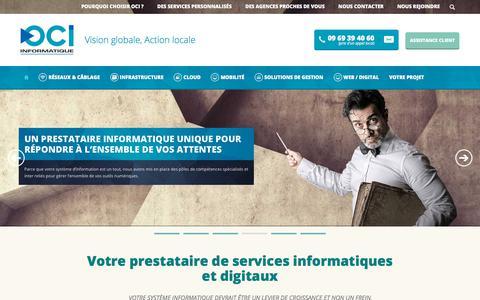 Screenshot of Home Page oci.fr - OCI | Prestataire services informatiques entreprises - Grand Est - captured Sept. 20, 2018