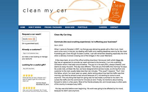 Screenshot of Blog ecofriendlycarwash.net - The car wash that comes to you! - Blog - captured Dec. 7, 2015