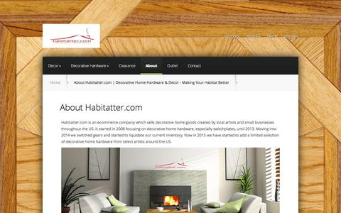 Screenshot of About Page habitatter.com - About Habitatter.com | Decorative Home Hardware & Decor - Making Your Habitat Better | Habitatter.com - captured Jan. 24, 2016