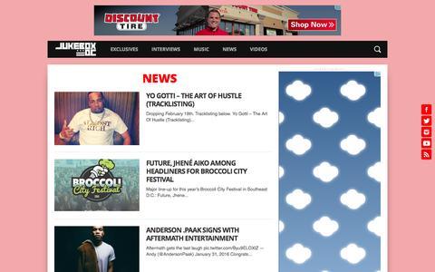 Screenshot of Press Page jukeboxdc.com - News Archives - JUKEBOX:DC - captured Feb. 4, 2016