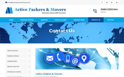 Active Packers And Movers In Mumbai India