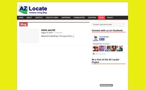 Screenshot of Blog azlocate.com - Blog | AZ Locate - Arizona Living Blog - captured Oct. 30, 2014