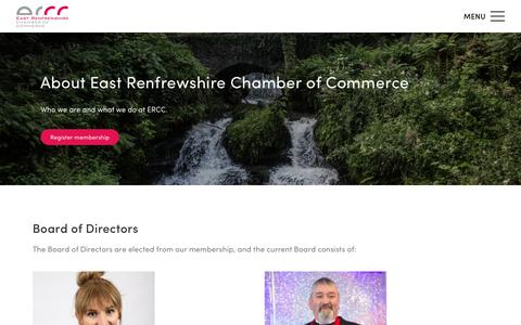 Screenshot of About Page eastrenchamber.org.uk - About | East Renfrewshire Chamber of Commerce - captured Nov. 9, 2018