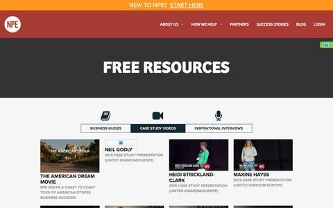Screenshot of Case Studies Page netprofitexplosion.com - Free Resources   Net Profit Explosion - captured Aug. 19, 2016