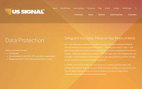 Data Protection | US Signal
