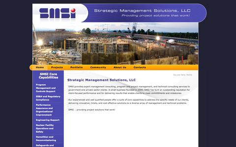 Screenshot of Home Page smsi.us - Strategic Management Solutions, LLC - captured Oct. 7, 2014