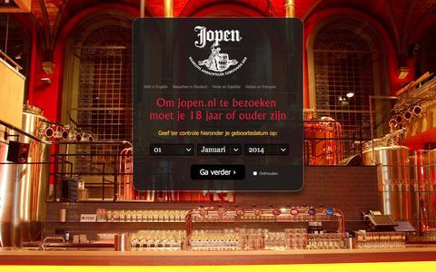 Screenshot of Contact Page jopen.nl - Contact | Jopen Bier - captured Oct. 6, 2014