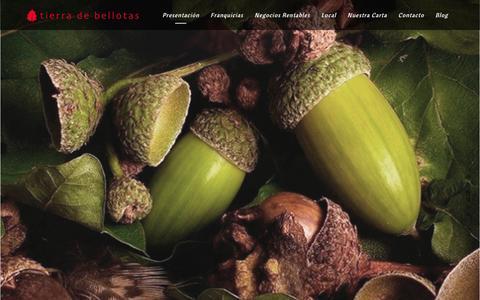 Screenshot of Home Page tierradebellotas.com - Franquicias de hosteleria   Tierra de Bellotas - captured April 2, 2016