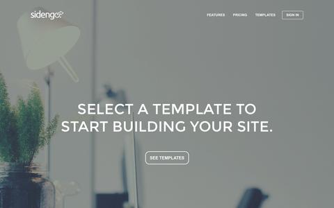 Screenshot of Signup Page sidengo.com - Templates - Sidengo - captured Nov. 4, 2014