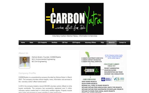 Screenshot of About Page weebly.com - About Us - CARBONyatraVoluntary Carbon News-Information-Services - captured Oct. 27, 2014