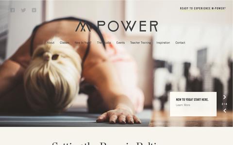 Screenshot of Home Page mpoweryogastudio.com - Welcome to M•Power Yoga   Baltimore Yoga Studio M•Power Yoga - captured Nov. 22, 2015