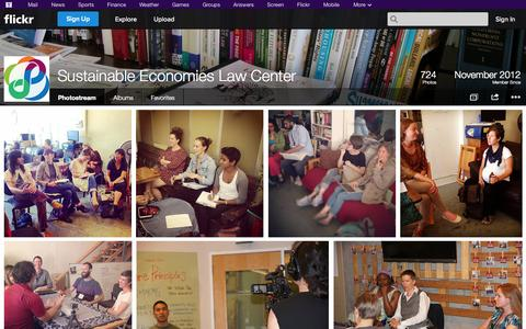 Screenshot of Flickr Page flickr.com - Flickr: Sustainable Economies Law Center's Photostream - captured Oct. 26, 2014