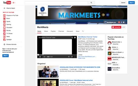 Screenshot of YouTube Page youtube.com - MarkMeets  - YouTube - captured Oct. 27, 2014
