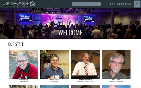 Screenshot of Team Page ccgreenvalley.org - Our Staff | Calvary Chapel Green Valley - captured Sept. 26, 2018