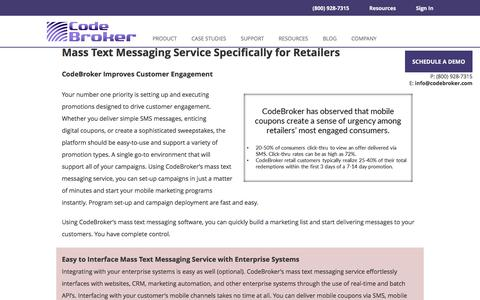Mass Text Messaging Service for Retailers | CodeBroker