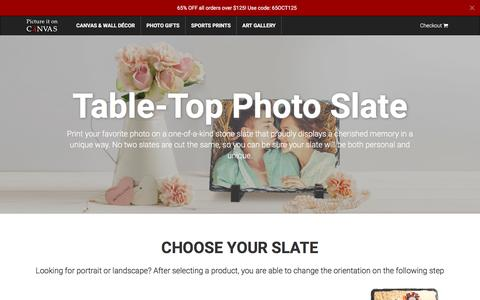 Picture It On Canvas - Print Your Photo on Table-Top Slate Rock