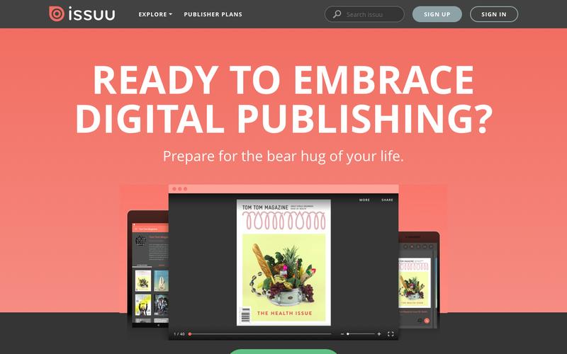 Screenshot Publish - issuu