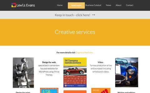 Screenshot of Services Page lewisevans.net - Creative services | Lewis Evans - captured Dec. 9, 2015