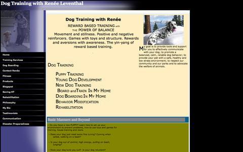 Screenshot of Home Page yourdogcoach.com - dog coach - captured Oct. 1, 2014