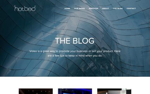 Screenshot of Press Page hotbed.com - The Blog | Hotbed Media | Video Production Columbus - captured Sept. 30, 2018