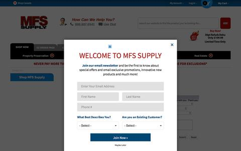 Screenshot of Contact Page mfssupply.com - Contact Us|MFS Supply - captured July 26, 2018