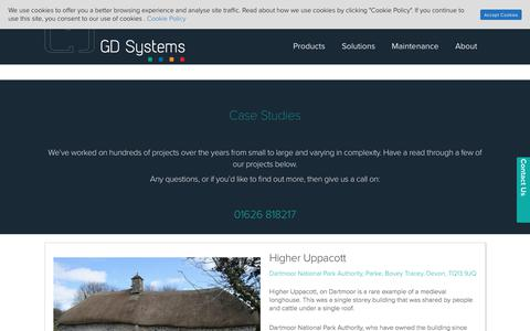 Screenshot of Case Studies Page gdsystems.com - Who We've Helped | Case Studies | GD Systems - captured Sept. 25, 2018