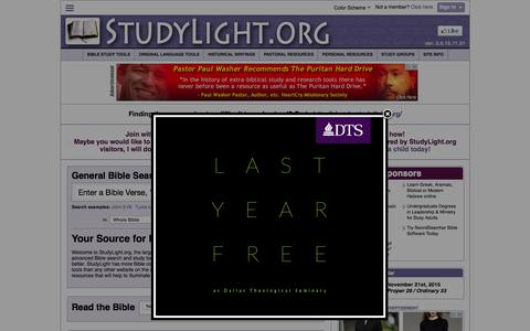 Screenshot of Home Page studylight.org - StudyLight.org: Search, Read and Study with our Tools - captured Nov. 21, 2015