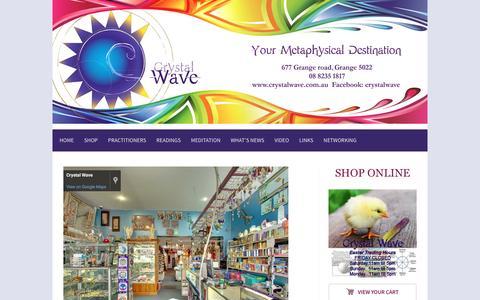 Screenshot of Home Page crystalwave.com.au - Home - Crystalwave - captured April 12, 2017