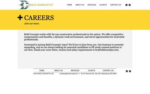 Screenshot of Jobs Page boldconcepts.com - Boldconcepts | CAREERS - captured Oct. 10, 2017