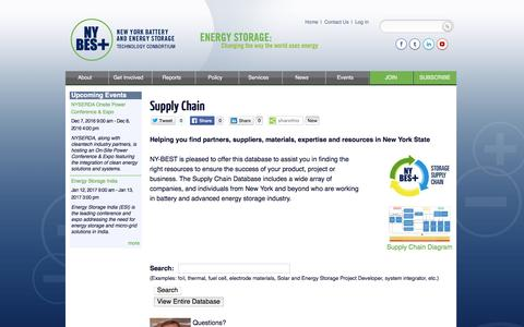 Screenshot of Services Page ny-best.org - Supply Chain | NY-BEST - captured Dec. 1, 2016