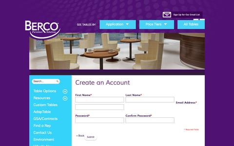 Screenshot of Signup Page bercoinc.com - Create New Customer Account - captured Sept. 30, 2014