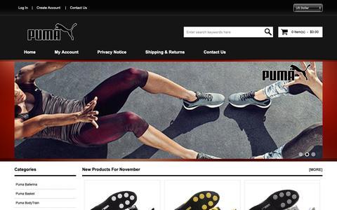 Screenshot of Home Page mishediye.com - Buy Puma Trainers Cheap UK Online | Free Shipping Worldwide - captured Nov. 16, 2018