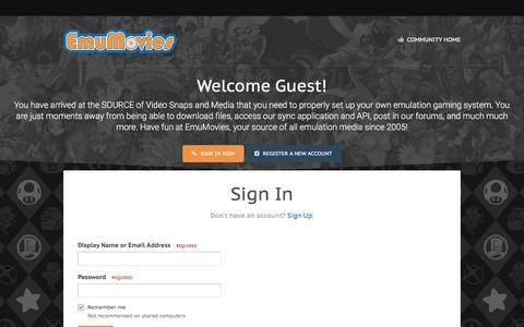 Screenshot of Login Page emumovies.com - Sign In - EmuMovies - captured May 19, 2017