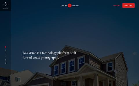 Screenshot of Home Page real.vision - Real Estate Photography - Virtual Tours - Floor Plans | Realvision - captured July 7, 2017