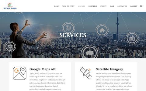 Screenshot of Services Page skymapglobal.com - Services – Skymap Global - captured Sept. 20, 2018