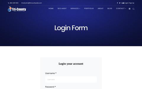 Screenshot of Signup Page tricountyweb.com - Login Form - captured Feb. 16, 2018