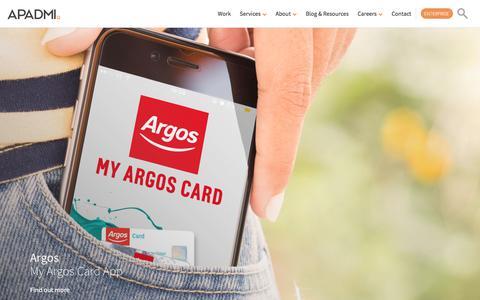Screenshot of Home Page apadmi.com - App Development | Mobile App Development | App Design | Apadmi - captured Oct. 8, 2017