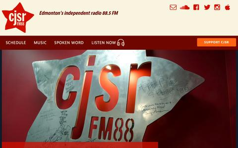 Screenshot of Contact Page cjsr.com - Contact | CJSR - captured Feb. 7, 2017