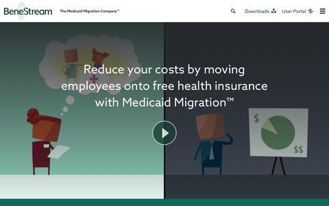 Screenshot of Home Page benestream.com - BeneStream - The Medicaid Migration CompanyェBeneStream - captured Dec. 4, 2015